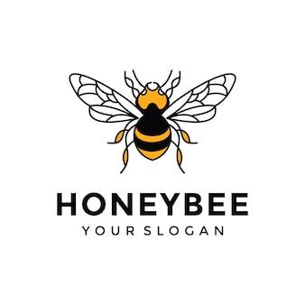 Inspiration de conception de logo d'abeille à miel