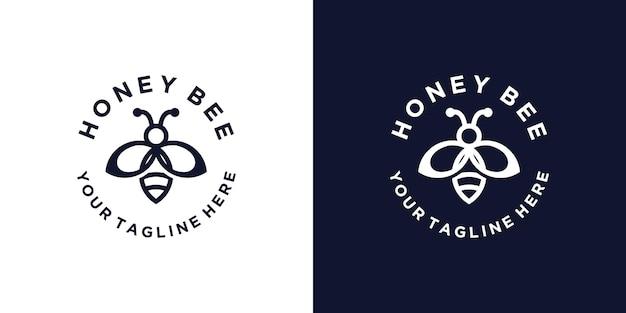 Inspiration de conception de logo d'abeille minimaliste et moderne