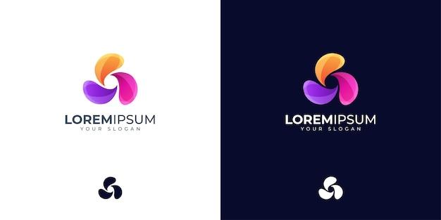 Inspiration de conception de logo abstrait coloré