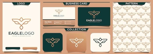 Inspiration de conception de logo d'aigle minimal