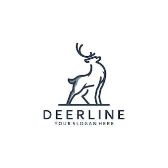 Inspiration de conception de logo d'art de ligne de cerf