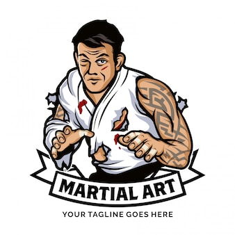 Inspiration de conception de logo d'art martial