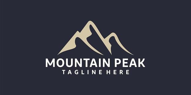 Inspiration de conception de logo d'aventure de montagne rétro hipster vintage