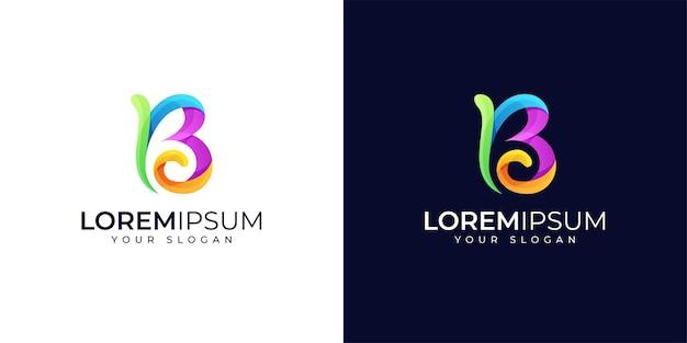 Inspiration de conception de logo b coloré
