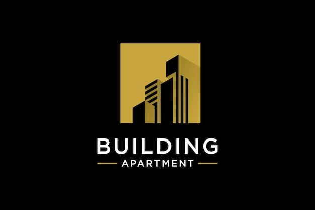 Inspiration de conception de logo de bâtiment créatif