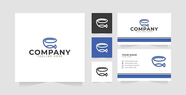 Inspiration de conception de logo de bocal à poissons et carte de visite