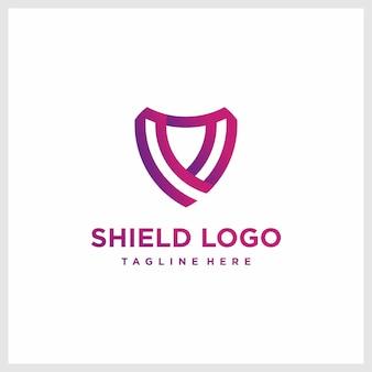 Inspiration de conception de logo de bouclier dégradé premium