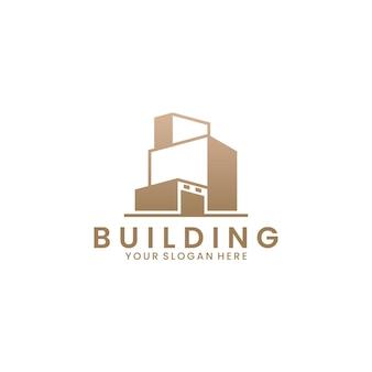 Inspiration de conception de logo de bureau de bâtiment