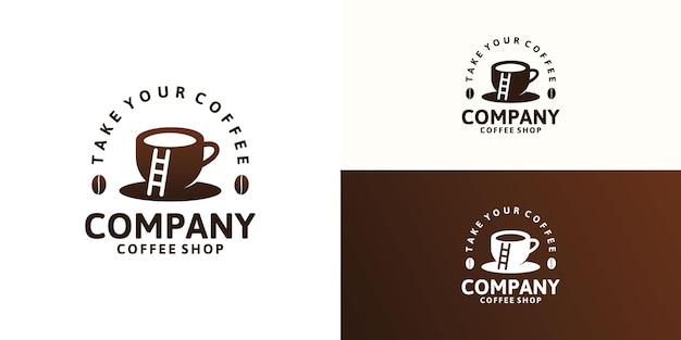 Inspiration de conception de logo de café vintage, logo pour café, café et autres