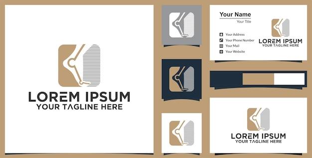 Inspiration de conception de logo de cheville et carte de visite premium