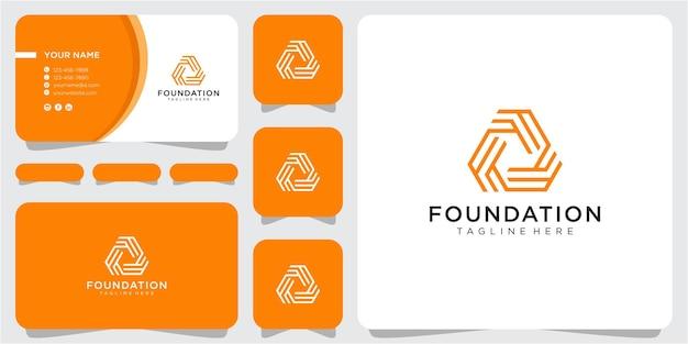 Inspiration de conception de logo de communauté de lettre f avec la carte de visite