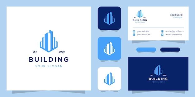 Inspiration de conception de logo de construction de bâtiments