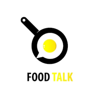 Inspiration de conception de logo de conversation de nourriture