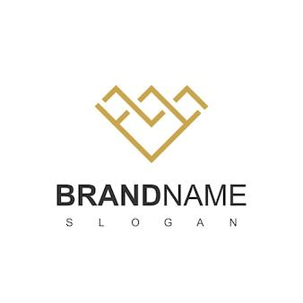 Inspiration de conception de logo de diamant d'or