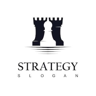 Inspiration de conception de logo d'échecs