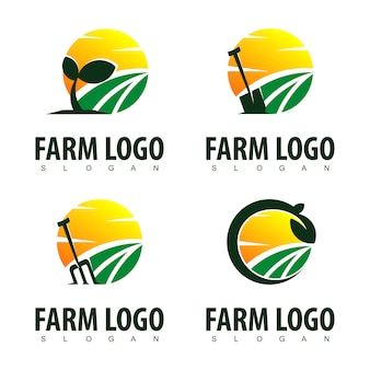 Inspiration de conception de logo de ferme
