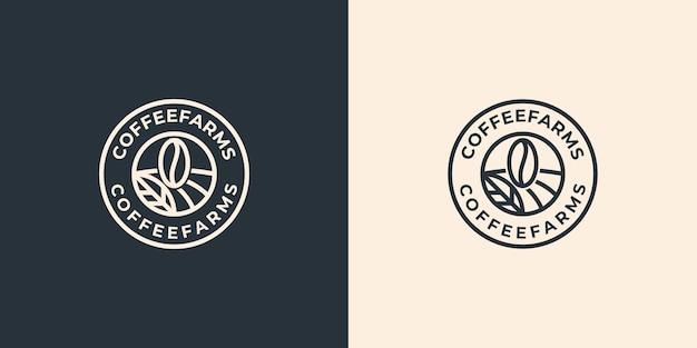 Inspiration de conception de logo de fermes de café vintage simple