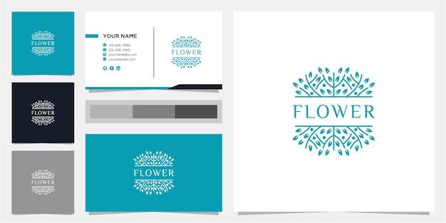 Inspiration de conception de logo de fleur impressionnante