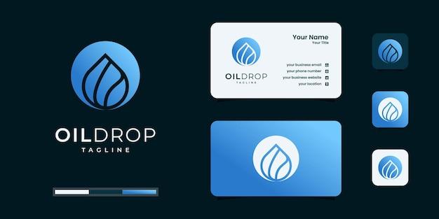 Inspiration de conception de logo de goutte d'eau ou d'huile d'olive