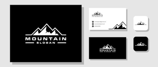 Inspiration de conception de logo de hipster d'aventure de voyage en montagne
