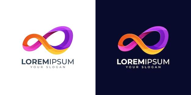 Inspiration de conception de logo infini coloré