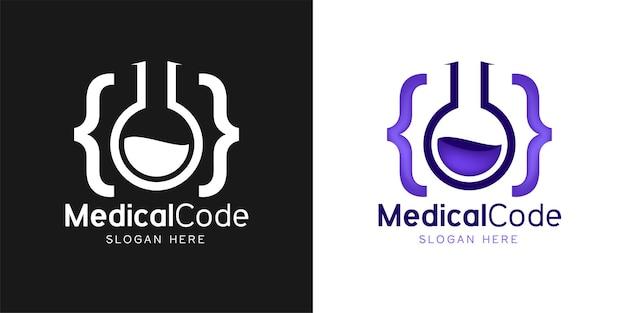 Inspiration de conception de logo de laboratoire de code