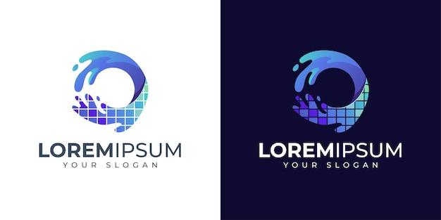 Inspiration de conception de logo lettre o coloré