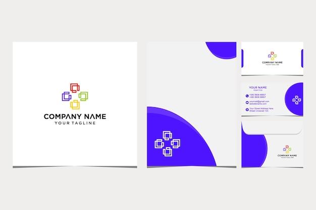 Inspiration de conception de logo de lettre c pour l'enveloppe de carte de visite et d'entreprise et vecteur premium de papier à en-tête vecteur premium