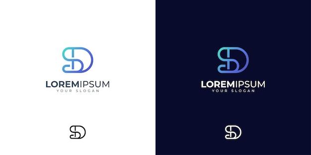 Inspiration de conception de logo lettre s et d