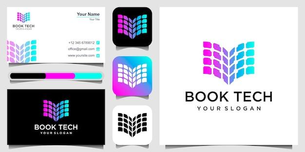 Inspiration de conception de logo de livre numérique
