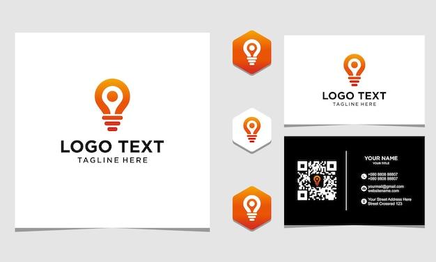 Inspiration de conception de logo de localisation de lampe pour l'entreprise et la carte de visite vecteur premium