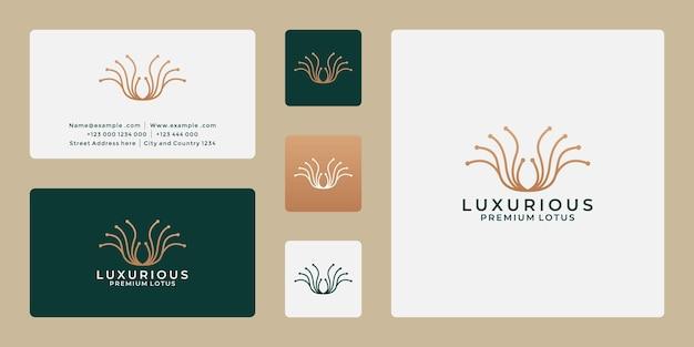 Inspiration de conception de logo de lotus de beauté pour votre spa, salon, thérapeute de message