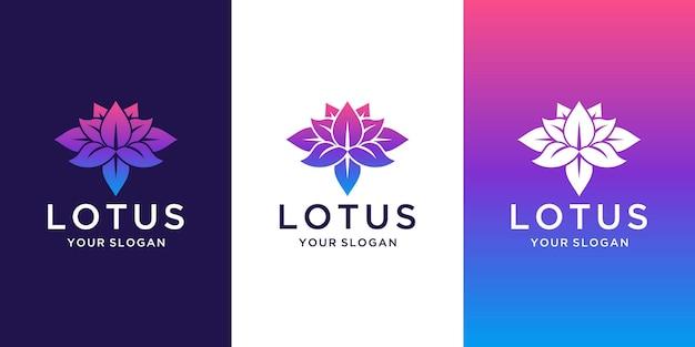 Inspiration de conception de logo de lotus