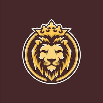 Inspiration de conception de logo de luxe golden royal lion king