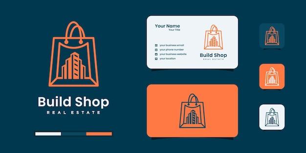 Inspiration De Conception De Logo De Magasin De Construction Minimaliste. Vecteur Premium