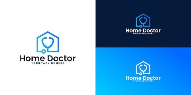 Inspiration de conception de logo de maison de santé, maison du docteur