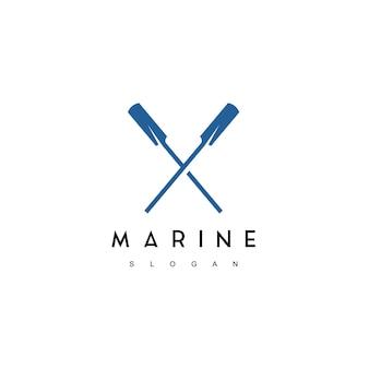 Inspiration de conception de logo marin