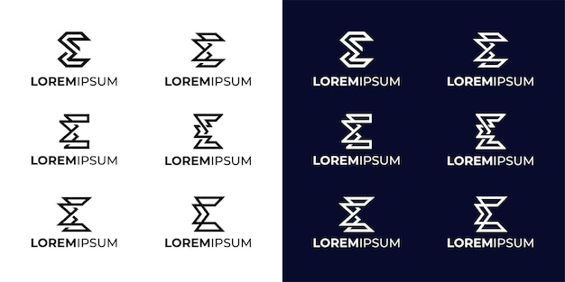 Inspiration de conception de logo monogramme sigma