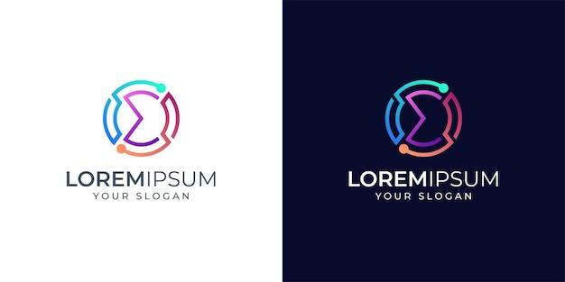 Inspiration De Conception De Logo Monogramme Sigma Vecteur Premium