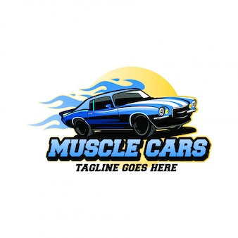 Inspiration de conception de logo de muscle cars