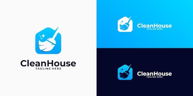 Inspiration de conception de logo de nettoyage à domicile