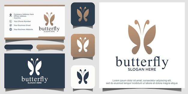 Inspiration de conception de logo de papillon de beauté