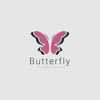 Inspiration de conception de logo de papillon