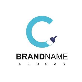 Inspiration de conception de logo de peinture de lettre c