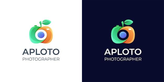Inspiration De Conception De Logo De Photographie Colorée Vecteur Premium