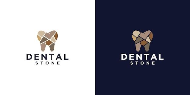 Inspiration de conception de logo de pierre dentaire et carte de visite
