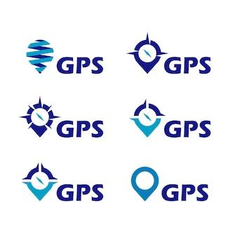 Inspiration de conception de logo de pointeur gps
