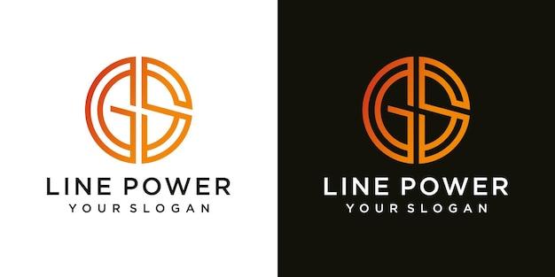 Inspiration de conception de logo pour les entreprises à partir des lettres initiales du modèle d'icône du logo gs