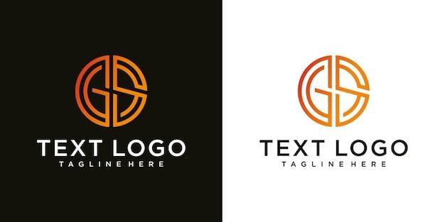 Inspiration de conception de logo pour les entreprises à partir des lettres initiales du modèle de luxe d'icône de logo gs
