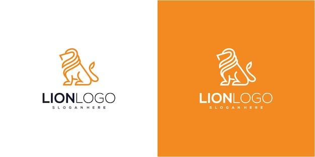 Inspiration de conception de logo de roi lion